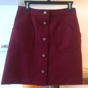 kate spade new york heart pocket skirt